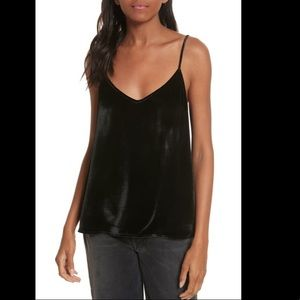 Equipment Layla Velvet Camisole Black Medium
